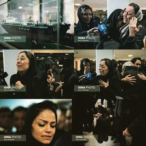 تصاویر همسران کشته شدگان ماموران نفتکش