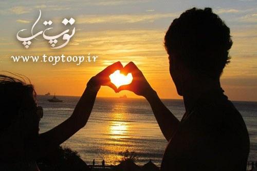 شعر کوتاه عاشقانه غروب خورشید