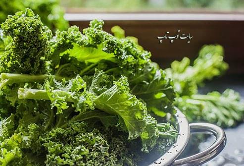 فایده سبزیجاتی با برگ های سبز تیره برای چشم ها