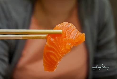 مفید بودن ماهی آزاد برای چشم