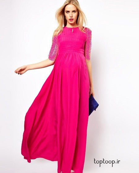 گالری عکس قشنگ ترین مدل لباس بارداری شیک سال 2019