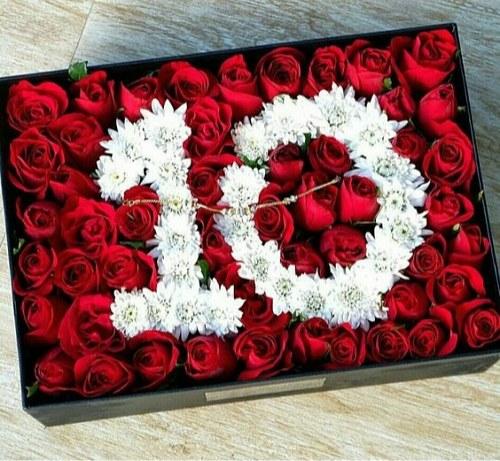 عکس گل رز و گل نرگس بصورت عدد برای سن تولد و تبریک تولد