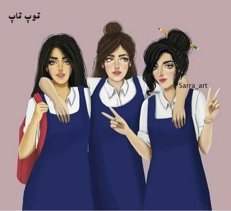 عکس دخترانه فانتزی سه نفره برای پروفایل