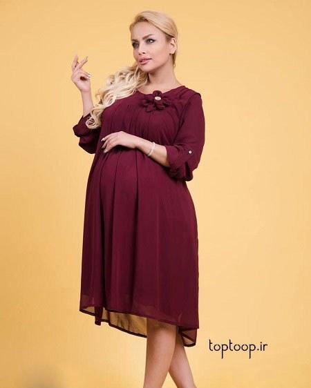 مدل لباس مجلسی بارداری 98 جدید