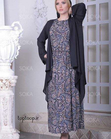 مدل لباس مجلسی زنانه شکم دار 1398 جدید