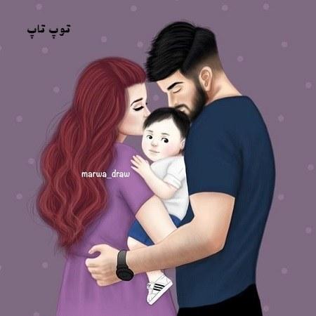 عکس پروفایل دختلونه بابا مامان و بچه ی دختر