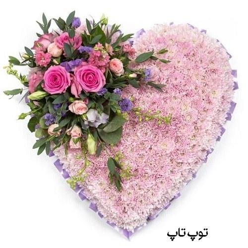 عکس پروفایل گلهای رنگارنگ تقدیمی به همسر در قالب قلب