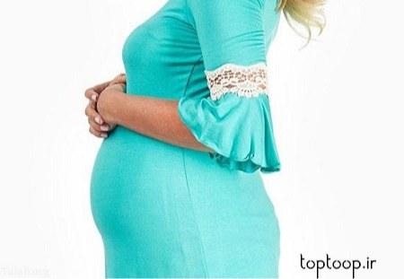 لباس بارداری مجلسی با گیپور در طرح های مختلف