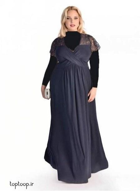 مدل لباس مجلسی چاقها