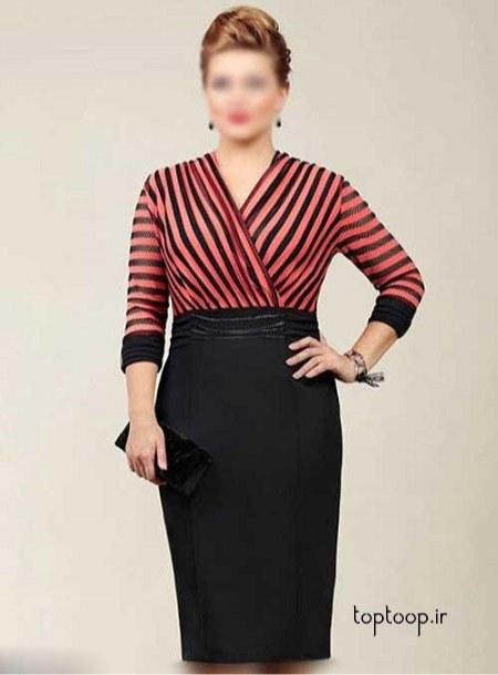 مدل لباس مجلسی خانمهای چاق و وزن بالا 2019