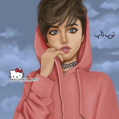 زیباترین عکس های نقاشی شده دخترانه برای پروفایل سری دوم در توپ تاپ