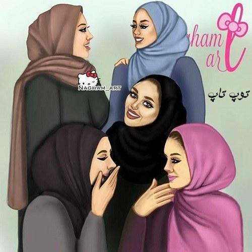 عکس پروفایل دخترونه کارتونی دسته جمعی + رفقای صمیمی