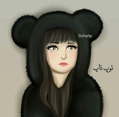 عکس نقاشی شده از دختری که غمگین و دلشکسته هست