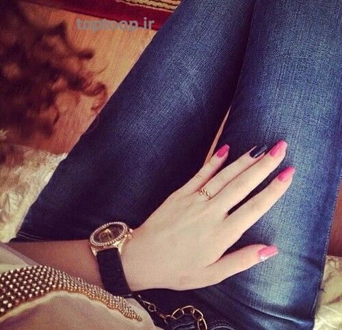 عکس ران و پاهای دختر ایرانی برای پروفایل با لاک زیبا