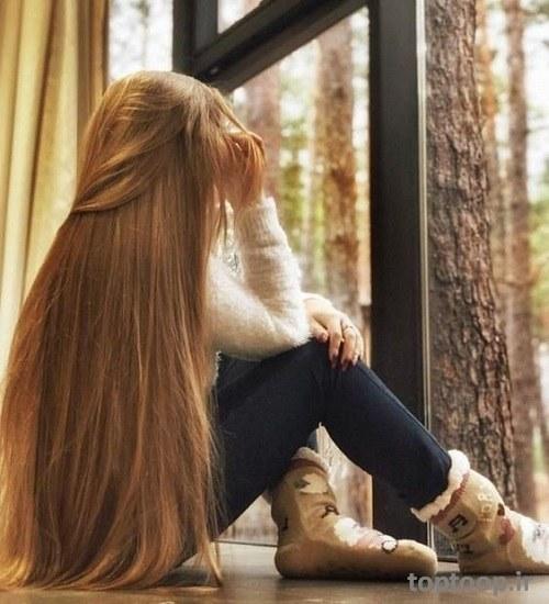 عکس دختر زیبا با موهای بلند و طلایی رنگ + پروفایل اینستاگرام
