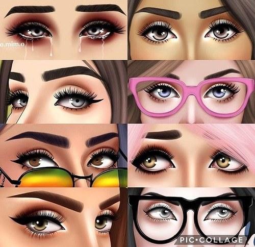 عکس پروفایل انواع چشم دخترانه به شکل کارتونی