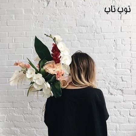 عکس دختر با گل در دست 98 جدید
