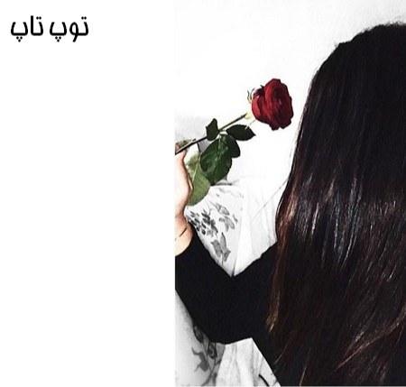 عکس دختر با گل سر قرمز 2019 جدید
