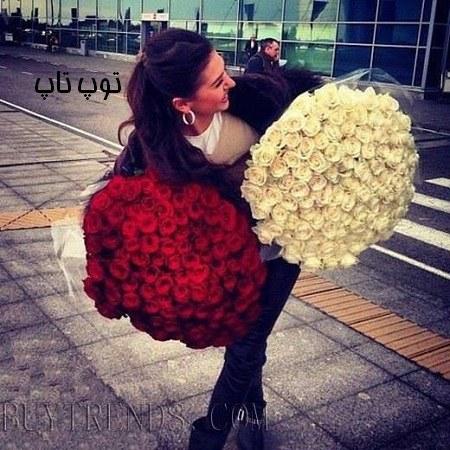 دخترانه با گل