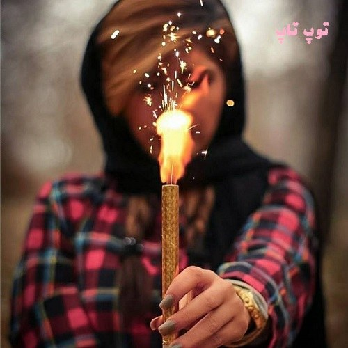 عکس پروفایل دخترانه و زنانه شمع در دست