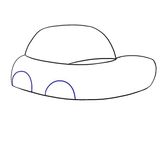 آموزش نقاشی ماشین مرحله ششم