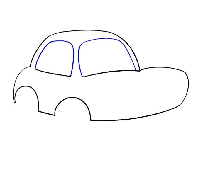 آموزش نقاشی ماشین مرحله هشتم