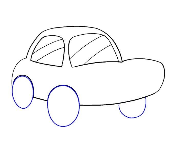 آموزش نقاشی ماشین مرحله دهم