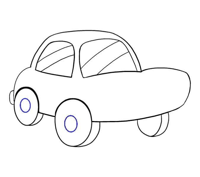 آموزش نقاشی ماشین برای بچه ها مرحله دوازدهم