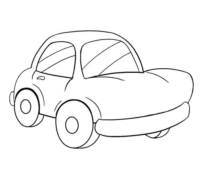 آموزش نقاشی ماشین مرحله پانزدهم