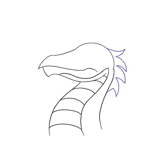 آموزش نقاشی سر اژدها مرحله یازدهم