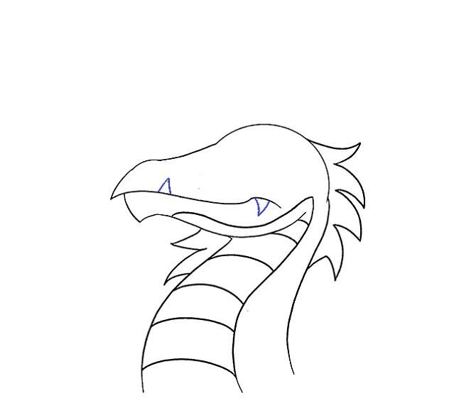 آموزش نقاشی سر اژدها مرحله سیزدهم