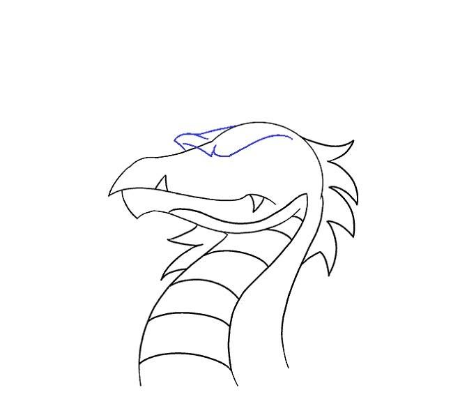نقاشی سر اژدها مرحله پانزدهم