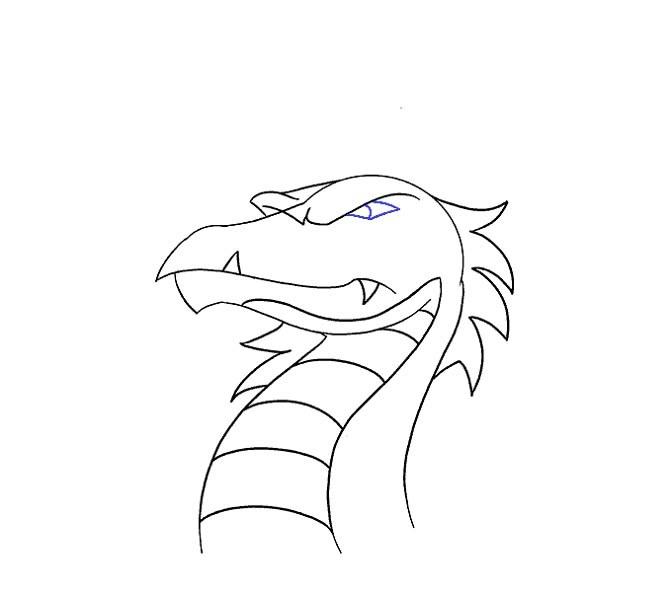 آموزش نقاشی سر اژدها برای کودکان مرحله شانزدهم