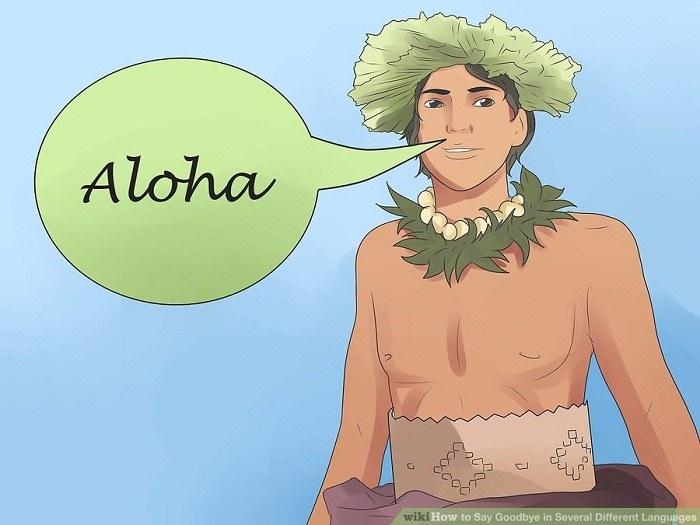 خداحافظی به زبان هاوایی