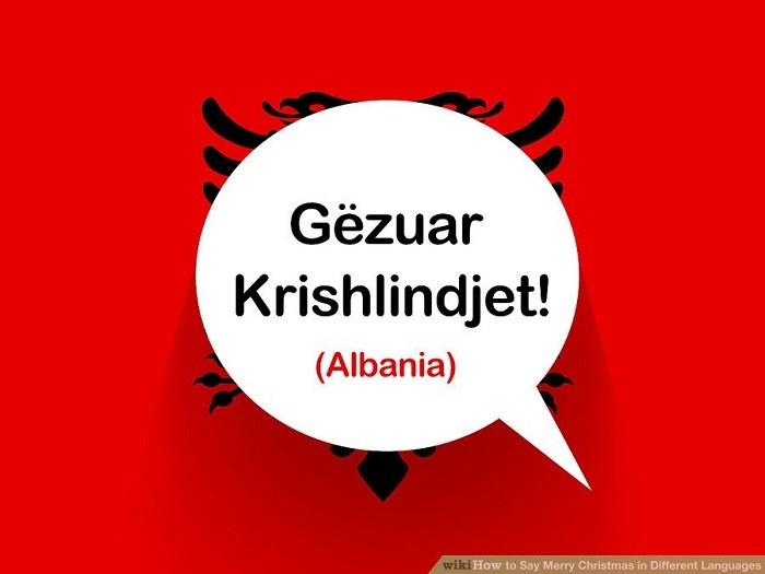 تبریک کریسمس به زبان آلبانیایی