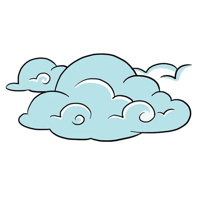 رنگ آمیزی نقاشی ابر