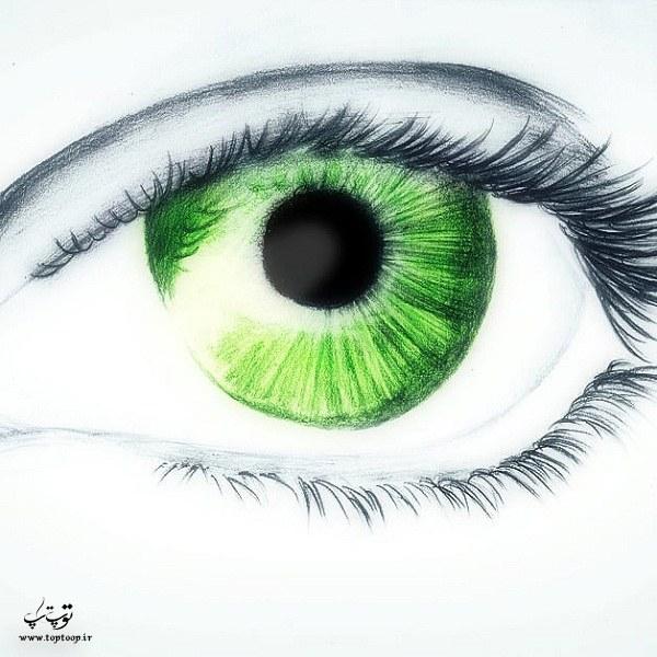عکس و متن درباره چشم سبزا