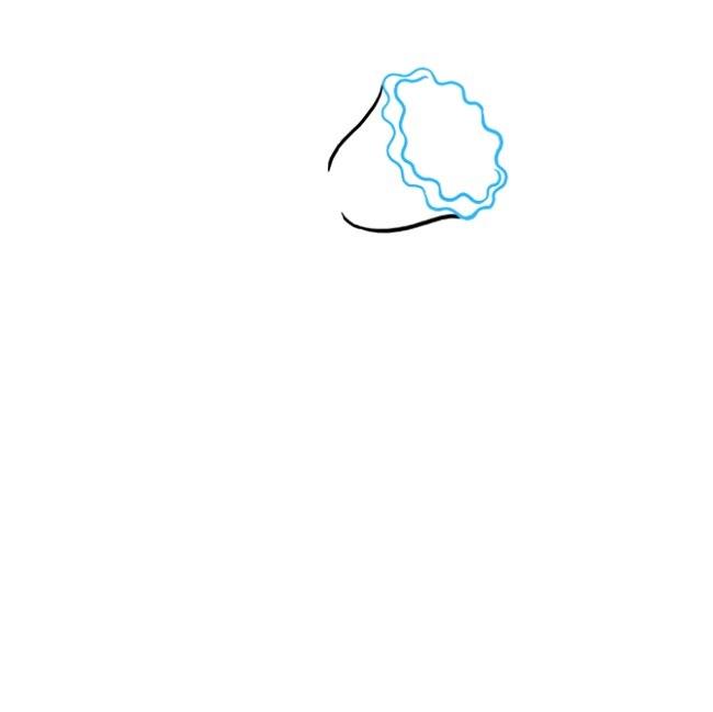 نقاشی گل نرگس برای کودکان مرحله دوم