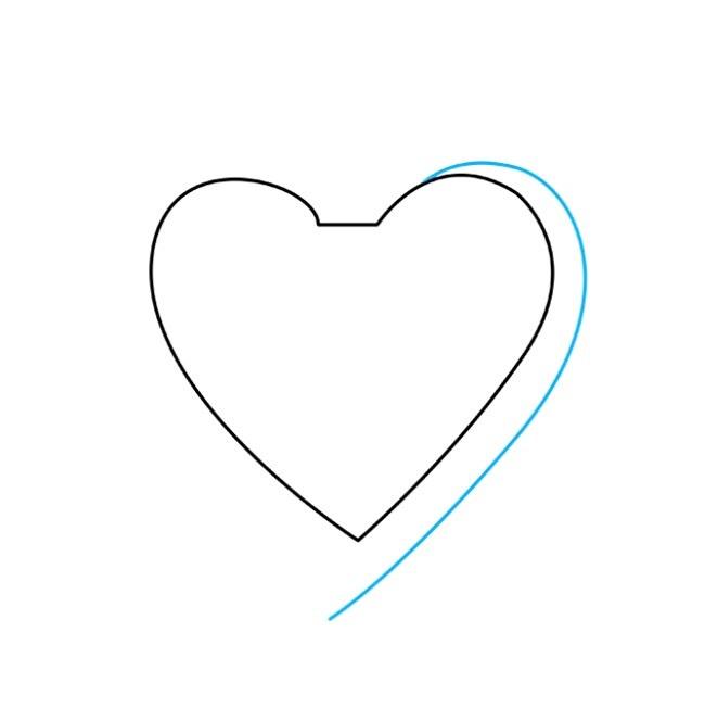 آموزش نقاشی قلب غیرممکن مرحله دوم