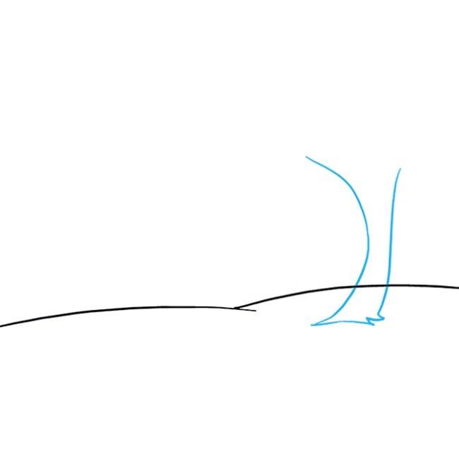 آموزش نقاشی منظره پاییزی مرحله دوم