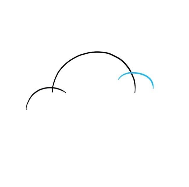 گام به گام نقاشی ابر برای کودکان