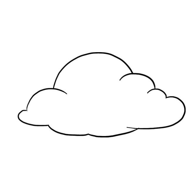 آموزش نقاشی ابر برای کودک