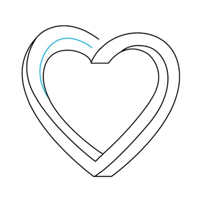 نقاشی قلب غیرممکن مرحله ششم