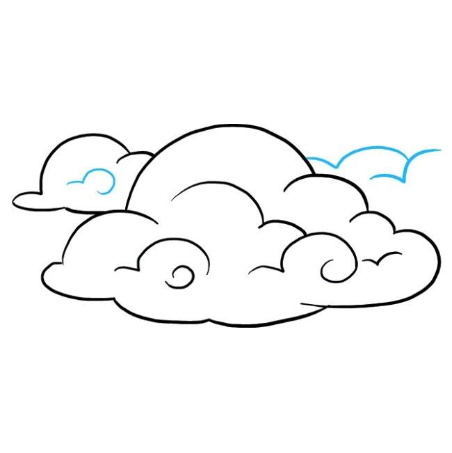 راهنمای نقاشی ساده ابر