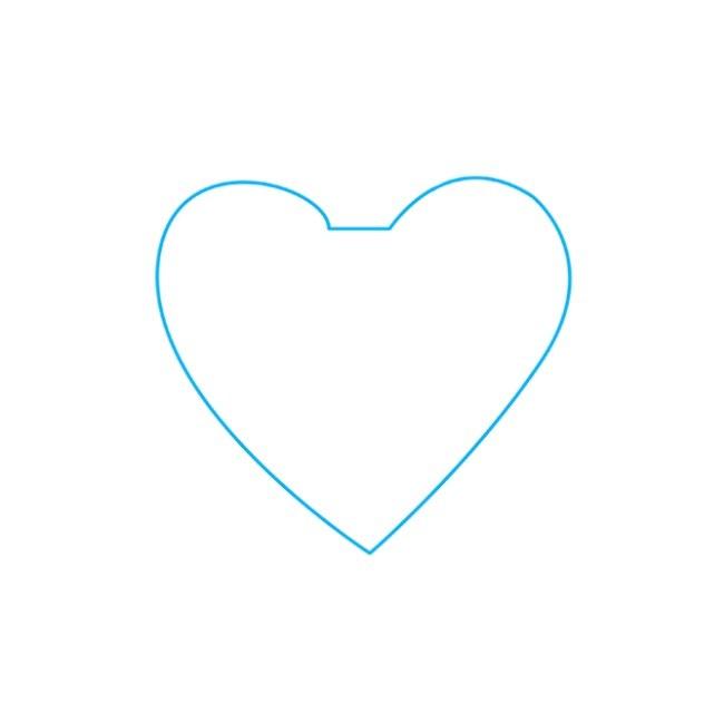 نقاشی قلب غیرممکن مرحله اول