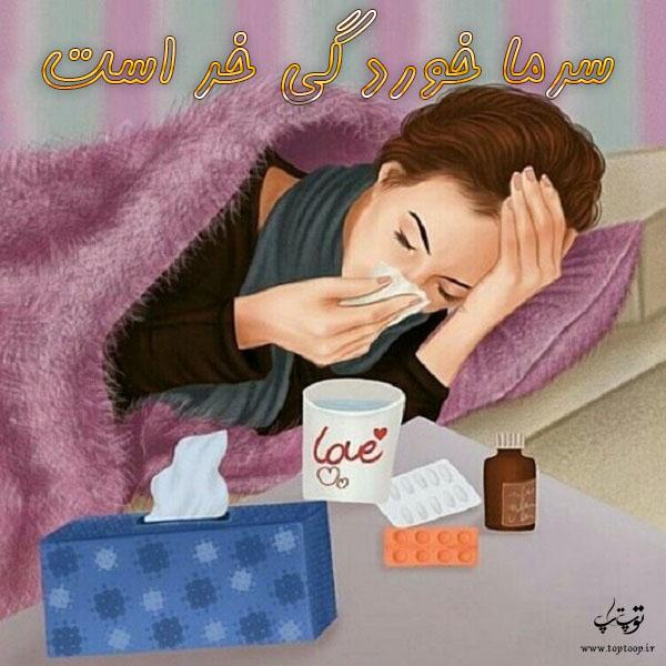 عکس نوشته درباره سرما خوردگی خر است