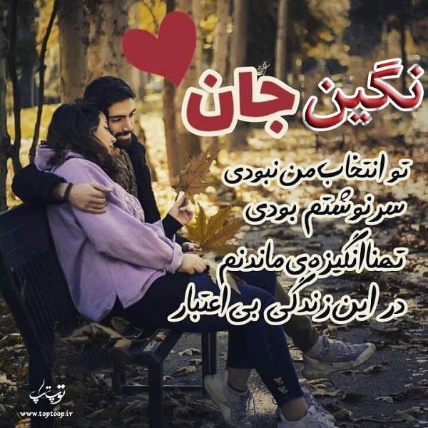 عکس نوشته اسم نگین برای پروفایل
