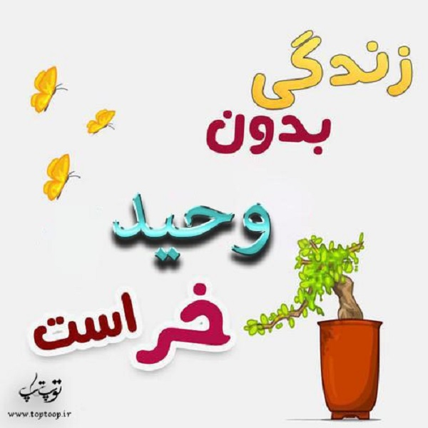 عکس نوشته فانتزی اسم وحید