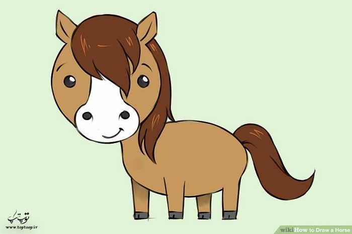 آموزش کشیدن اسب