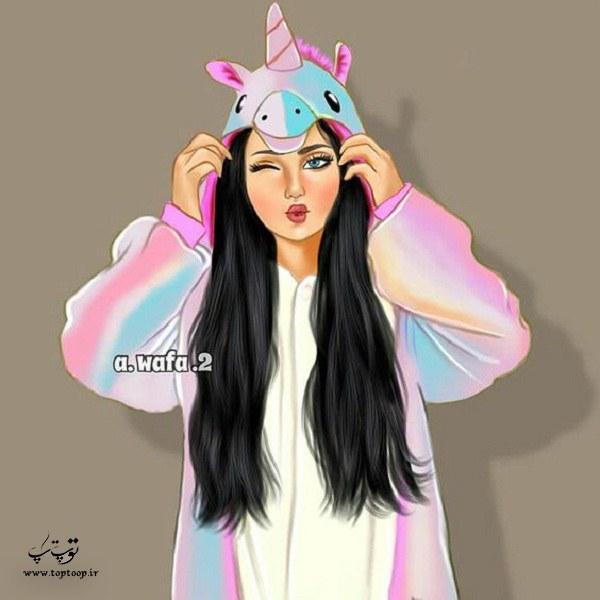 نقاشی دخترونه girly_m 2020-1399